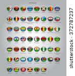 set of round glossy flags of... | Shutterstock . vector #372787237