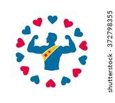 love fitness  health nature...   Shutterstock .eps vector #372798355
