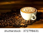 Hot Cappuccino Coffee In...