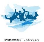 skydive | Shutterstock .eps vector #372799171