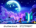 illustration  the kid try to...   Shutterstock . vector #372799897