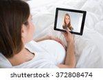 pregnant woman... | Shutterstock . vector #372808474