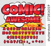 creative high detail comic font....   Shutterstock .eps vector #372816319