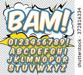 alphabet collection set. comic... | Shutterstock .eps vector #372816334