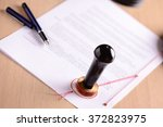 notary's public pen and  stamp... | Shutterstock . vector #372823975