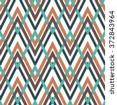 geometry zig zag vector pattern.... | Shutterstock .eps vector #372843964