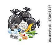 waste isolated on white photo... | Shutterstock .eps vector #372845899