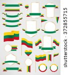 lithuania flag decoration... | Shutterstock .eps vector #372855715