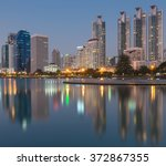 bangkok city downtown after... | Shutterstock . vector #372867355