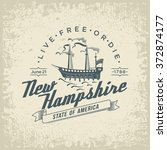 new hampshire stylized emblem... | Shutterstock .eps vector #372874177