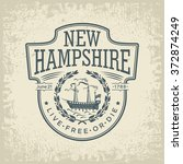 new hampshire stylized emblem... | Shutterstock .eps vector #372874249