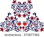 hungarian folk art | Shutterstock .eps vector #372877381