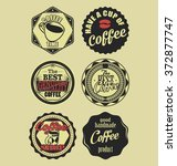 coffee vintage retro labels | Shutterstock .eps vector #372877747