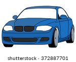 vector isolated blue sportcar