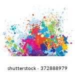 color background of paint...   Shutterstock .eps vector #372888979
