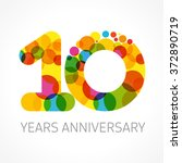 template logo 10th anniversary... | Shutterstock .eps vector #372890719