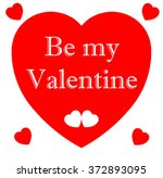 be my valentine | Shutterstock . vector #372893095