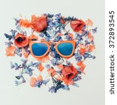 Trend Sunglasses On Flowers...