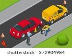 roadside assistance car. man... | Shutterstock .eps vector #372904984