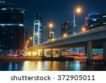 Dubai Nighttime Skyline With...