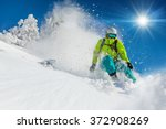 Freeride In Fresh Powder Snow....