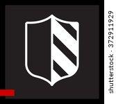 web line icon. shield. | Shutterstock .eps vector #372911929