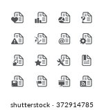 documents icons   2    utility... | Shutterstock .eps vector #372914785