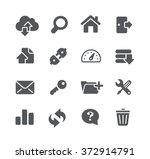 ftp   hosting icons    utility... | Shutterstock .eps vector #372914791