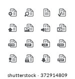 documents icons   1    utility... | Shutterstock .eps vector #372914809