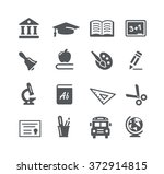 education icons    utility... | Shutterstock .eps vector #372914815