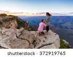 proposal in grand canyon ... | Shutterstock . vector #372919765