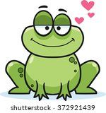 Cartoon Frog  Vector...