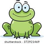 cartoon frog  vector...