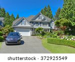 luxury residential house with... | Shutterstock . vector #372925549