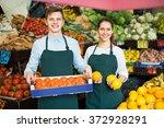 Positive Supermarket Workers...