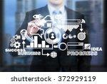 businessman standing in front... | Shutterstock . vector #372929119