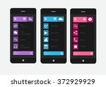 smartphones interface vector...