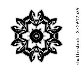 ornate mandala. gothic lace... | Shutterstock . vector #372942589