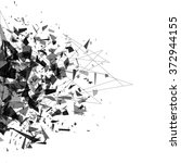 explosion of black shards.... | Shutterstock .eps vector #372944155
