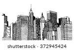 scene street illustration. hand ... | Shutterstock .eps vector #372945424