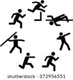 heptathlete pictograms in a... | Shutterstock .eps vector #372956551