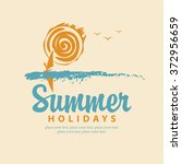 vector summer banner with sea ... | Shutterstock .eps vector #372956659