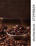 coffee beans and dark chocolate ... | Shutterstock . vector #372958624