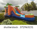 inflatable bounce house water... | Shutterstock . vector #372963151