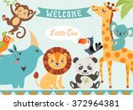 baby shower design with cute... | Shutterstock .eps vector #372964381