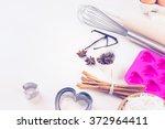 ingredients to bake sugar... | Shutterstock . vector #372964411