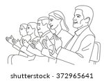 man and woman applause. vector... | Shutterstock .eps vector #372965641