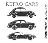vintage car vector poster... | Shutterstock .eps vector #372968479