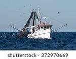 Fishing Trawler At Sea  Port...