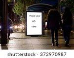 blank outdoor advertising... | Shutterstock . vector #372970987